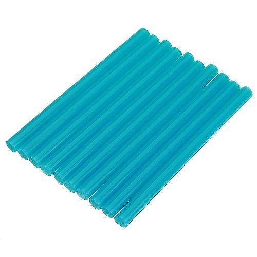 EsportsMJJ 10 Stks 7mmx100mm Kleurrijke Hot Melt Lijm Stick Kleurstof DIY Ambachten Reparatie Model Lijm Sticks, Blauw, 1