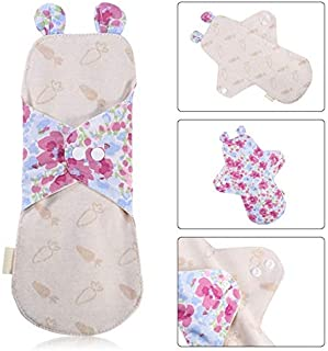 KYK Washable Menstrual Pad Reusable Sanitary Napkin Mama Pad Bamboo Cotton Cloth Feminine Hygiene Menstrual Period Panty Liner Pads (Size : 250 mm Type 4)