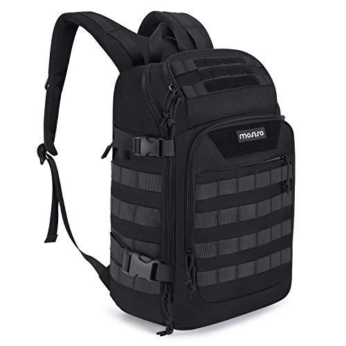 MosISO 30L tactische rugzak, militaire daypack 3 dagen Assault Molle schoudertas voor outdoor sport wandelen jacht vissen camping training met USB-aansluiting & droge natte scheiding