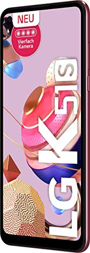 LG K51s Smartphone 64 GB (16,63 cm (6,55 Zoll) HD+ Display, Premium 4-Fach-Kamera, MIL-STD-810G, DTS:X 3D Surround Sound) Pink