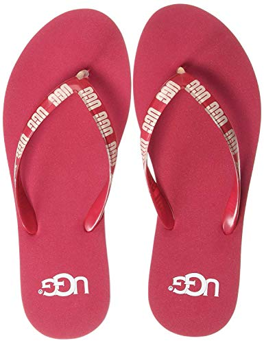 UGG Simi Sweet Sangria Graphic Logo Chanclas de Mujer,