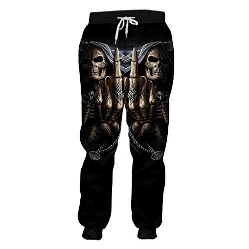 KIUYMRV Herren-Jogginghose mit Totenkopf-Motiv, lässig, modisch, 3D, Haremshose Gr. M, Punisher Skull