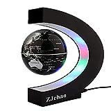 ZJchao Globo C levitazione Magnetica a Forma di Sfera Galleggiante Globe World Map Regalo Galleggiante LED (1#)