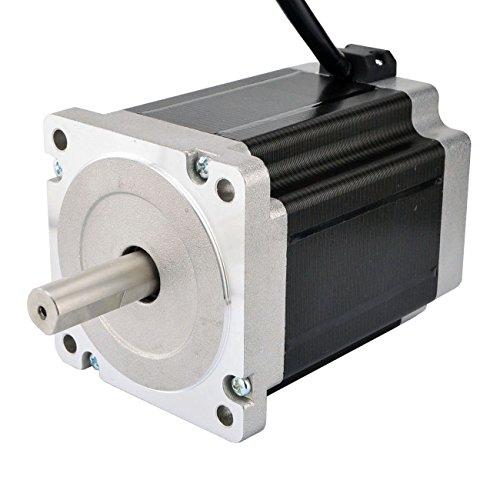 STEPPERONLINE Doppelwelle Nema 34 CNC Schrittmotor 8.5Nm 5A 86x114mm für 3D Drucker,CNC Fräsmaschine Fräser