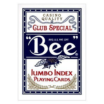 Bee Jumbo Index Playing Cards: Bee Poker Playing Cards with Large Numbers, One Dozen Decks by U.S. Playing Card Company