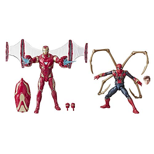 "Marvel Legends Series Avengers: Infinity War 6""-Scale Movie-Inspired Iron Man Mark 50 & Iron Spider Collectible Action Figure 2 Pack"