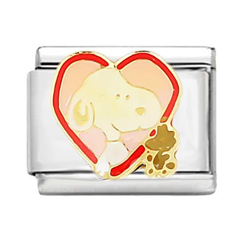 AKKi jewelry Italian Charms Armband Classic glieder Italy Charm,Silber Gold Edelstahl Links Kult modele Blume Tiere Herz für Krebs