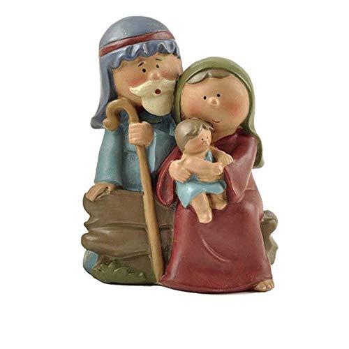 YEZINB Disfraz de Cristo Navidad Escena de la Natividad Manualidades Material de Resina DecoracinFigurascatlicas enMiniatura, 4.8x3.0x6.3CM