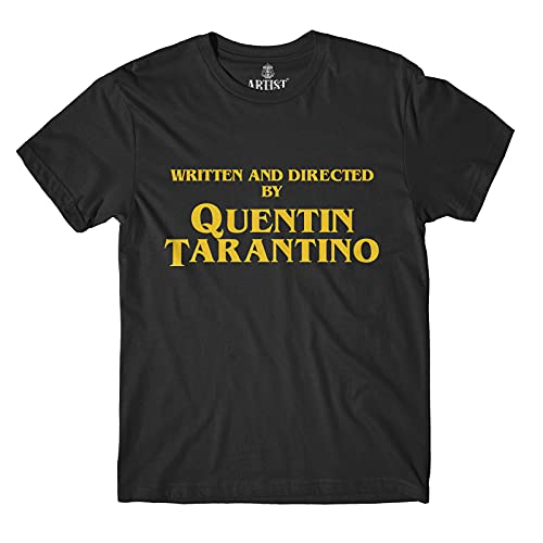 Generico Camiseta Written And Directed by Quentin Tarantino Fan Art Film Poster Original - 100% Algodón Hombre Unisex Negro XS