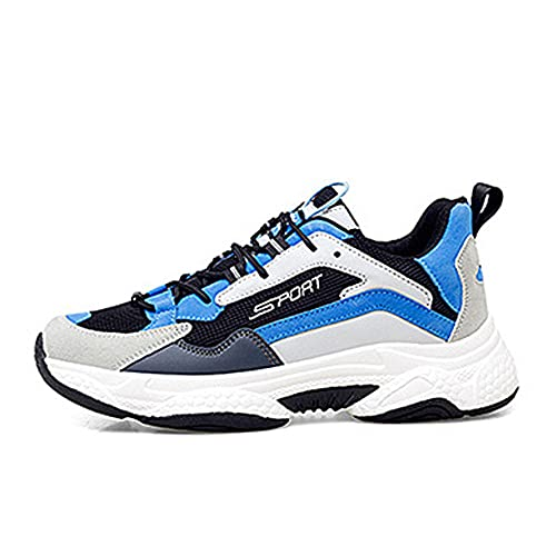 Aerlan Gym Shoes Lightweight Shoes,Zapatos de Hombre Tendencia Deportiva y de Ocio, Zapatillas de Correr Transpirables Senderismo Zapatos de Hombre-Blue_41,Botas de montaña Deportivas