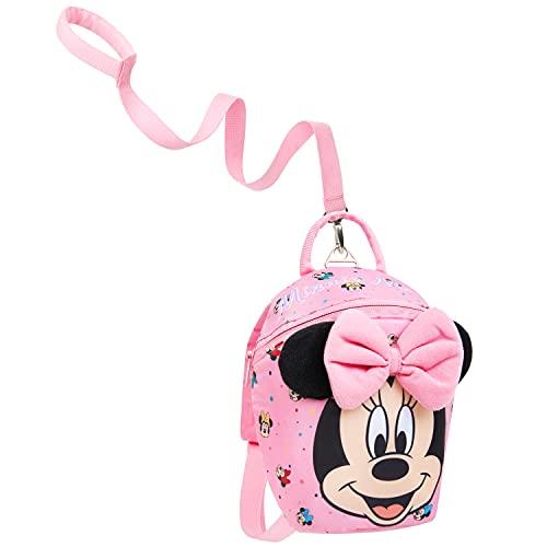 Disney Mochila Infantil Para Niñas  Bebe Guarderia  Minnie Mouse Con Arnés Seguridad
