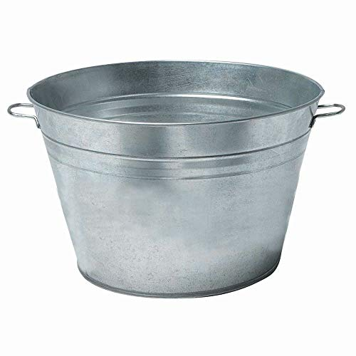 Best Prices! Beverage Tub with Handles Galvanized Metal 18 Round 9 Gallon
