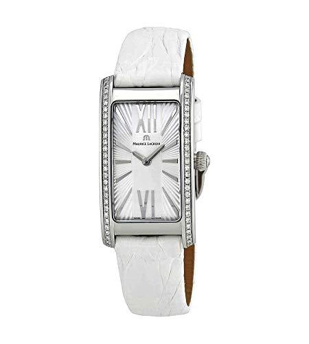 Maurice Lacroix Fiaba FA2164-SD531-114 - Reloj de mujer con esfera plateada y diamantes