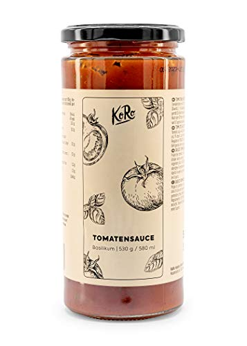 KoRo – Tomatensaus 530 g – Origineel uit Italië – Perfect voor pasta en pizza – Zonder toevoegingen – Veganistisch