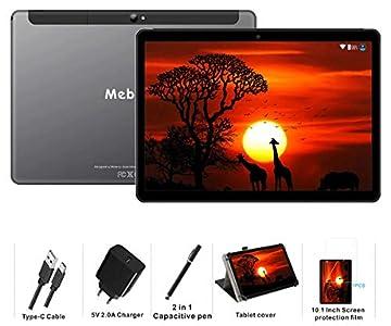 MEBERRY Tablet 10 Pulgadas Android 9 Pie Ultrar-Rápido Tablets 4GB RAM + 64GB ROM - Certificación Google GSM - 4G Dual SIM - 8000mAh |WI-FI|Bluetooth|GPS| Type-C Tablet (5.0+8.0 MP Cámara) - Gris