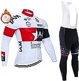 Mens Winter Long Sleeve Cycling Clothing Cycling Jerseys Long Men Bike Suits 5D Gel Pad