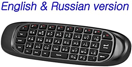 Calvas Russian English Version 2.4G Air Mouse Wireless Keyboard Remote Control 6-Axis Motion Sensing for Smart TV Android ...