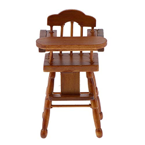 perfeclan 1/12 Puppenhaus Möbel Mini Klappstuhl Hochstuhl Esszimmermöbel Holzstuhl Modell - Holz