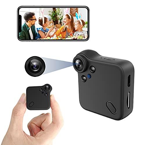 Mini Hidden Camera WiFi Spy Camera HD 1080P Home Live Stream Wireless Security Camera Covert Nanny Cam with Audio and Video Recording,Night Vision Motion Detection Micro Surveillance Camera