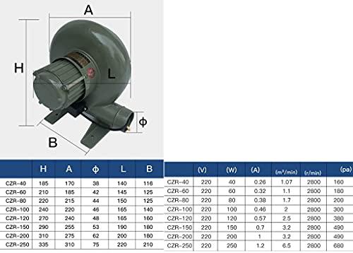 41GIMtFePnS. SL500  - JXS Elektrische Gebläse mit 220V, Reiner Kupfermotor mit Geschwindigkeitsregler-Verbrennungsventilator, verwendet für den Innenkamin und den Grebcue-Handwerker im Freien,250W