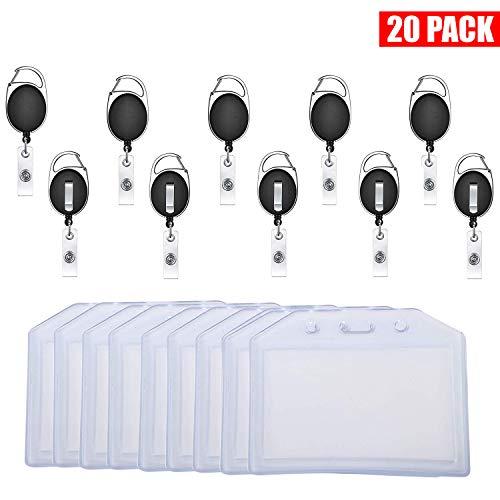Karabiner Ausweishalter, Gepäckanhänger (20 Stück) für Handtaschenanhänger Etiketten Reisezubehör, Leichte Karabiner Ausweishalter Etiketten Namensschilder für Koffer, Ausweishalter