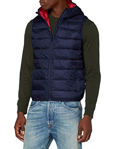 Jack & Jones JJEMAGIC Body Warmer Hood Chaleco de plumas, azul marino, S para Hombre