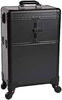 حقيبة مكياج احترافية بعجلات من شركة الودي، حقائب مكياج لتنظيم أدوات التجميل ومنظم صندوق خبراء التجميل وحقيبة بعجلات