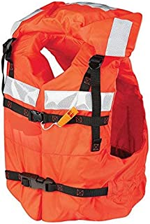 Kent Safety Products Mad Dog Products Type I Commercial Orange Life Jacket PFD - US Coast Guard Approved - Includes Safety Whistle