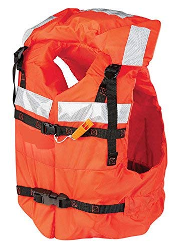 Mad Dog Products Type I Commercial Orange Life Jacket PFD - US Coast Guard Approved - Includes Safety Whistle