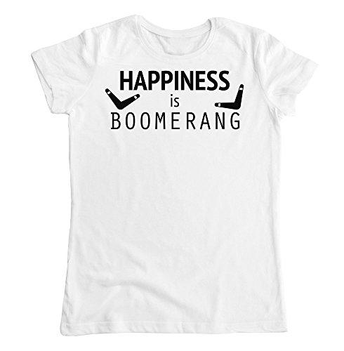 Happiness Is Boomerang Camiseta para Mujer Medium