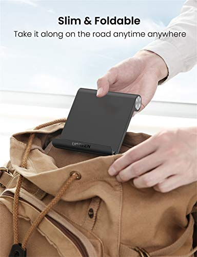 UGREEN Tablet Stand Holder Desk Adjustable Compatible for iPad 9.7 2018, iPad Pro Air 2019 iPad Mini 4 3 2, Nintendo Switch, Samsung Galaxy Tab S5e S4 S3, iPhone 11 Pro Max XS XR X 8 Plus 7 6 (Black)