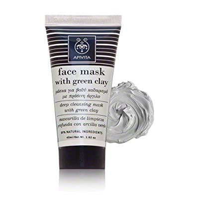Apivita Face Mask,Deep Cleansing Mask with Green Clay , 40ml by