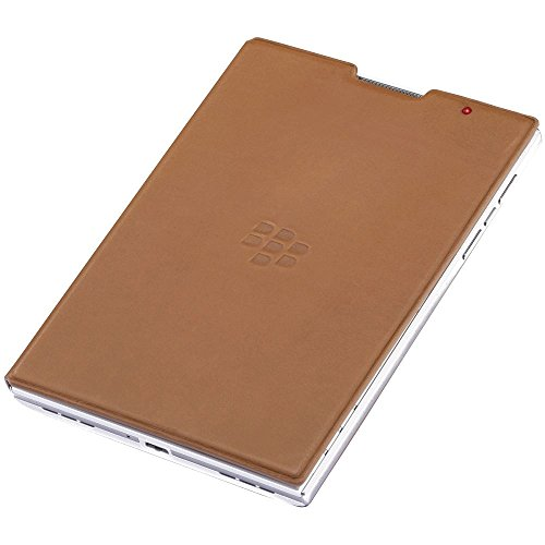 Blackberry Leather Flip Passport Case in Tan