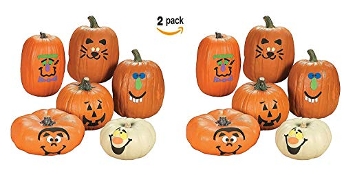 Fun Express Pumpkin Decoration Crafting Kit with Foam Adhesive   2-Pack (24 Count)   Great for Halloween-Themed Activities for Kids Age 5+