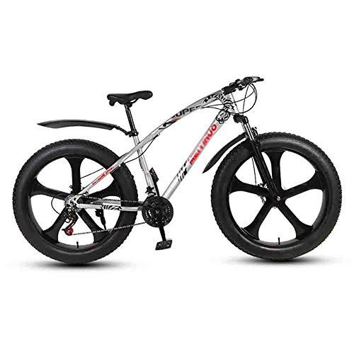 GAOTTINGSD Bicicleta de montaña Bicicletas Bicicleta MTB Mountain Bike Adulto Agua Motos de Nieve Bicicletas Grande de Neumáticos for Hombres y Mujeres de 26 Pulgadas Ruedas Doble Freno de Disco