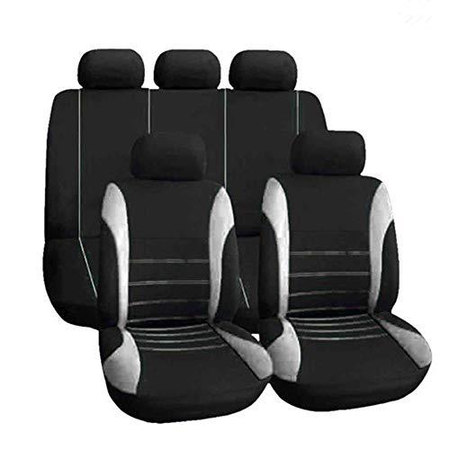 KKmoon Universal-Sitzbezüge, für vorne und hinten, atmungsaktiv, für Autositze, Rosa grau