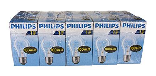 Philips 30600005 E. Lampadina a incandescenza , Vetro, Trasparente, Forma a pera, E27, Confezione da 10 pezzi