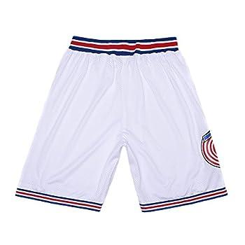 WELETION 2019 Space Movie Basketball Squad Shorts  XX-Large  White