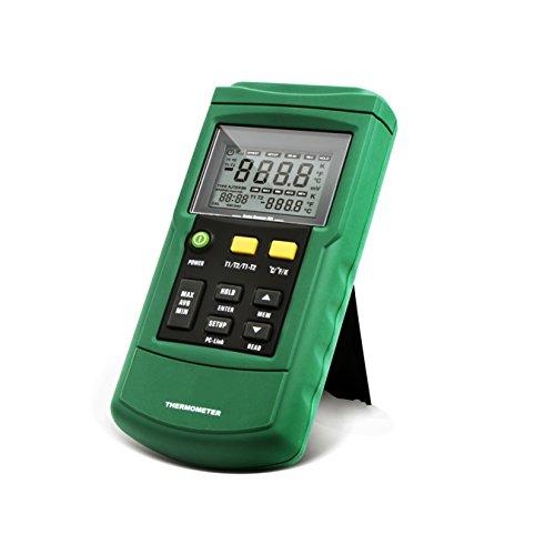 PerfectPrime TC2100, 2-Channel Digital Thermocouple Thermometer/Sensor USB...