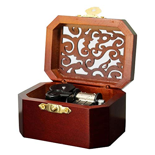 Anakin.jerry Vintage Wooden Octagon Carving Music Box: : Can't Help Falling in Love (Soundtrack)
