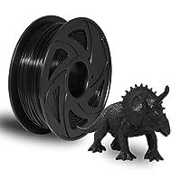 HORE 3Dプリンター用 造形 フィラメント PETG 純正材料 3Dプリンター用素材 3D印刷 3Dプリンター PLAフィラメント 樹脂材料 保護に優しい 1.75mm 1kgスプール 高い寸法精度 精度+/-0.02mm 高密度 (ブラック)
