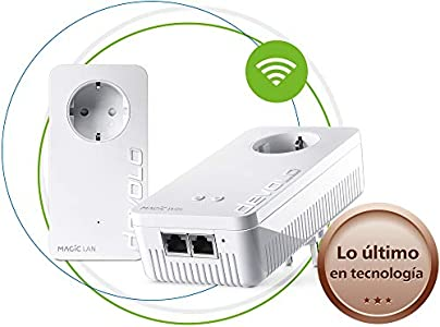 Devolo Magic 1 Wi-Fi - Starter Kit de Powerline para una Red Wi-Fi Fiable a Través de Techos y Paredes Mediante los Cables de Corriente, Conexión en Red Mesh Inteligente, Innovadora Tecnología G.hn