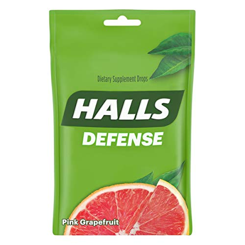 Halls Defense Pink Grapefruit Vitamin C Drops - with Immune Support - 30 Drops