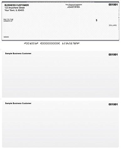 Grey Safety Top Style Computer Checks (1,000 Checks)