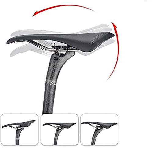 LADOG Puesto de sillín de bicicleta 27.2/30.8/31.6 con resorte ajustable a mano, barra de sillín de bicicleta de montaña hecha de aleación de aluminio de 350 mm/400 mm, 31.6, 350 mm, 31.6 x 350 mm