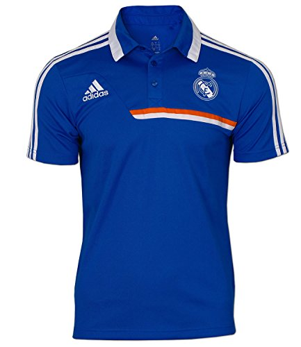 adidas Herren Poloshirt Real Polo Shirt (D10 (XL) 58, air Force Blue - White)