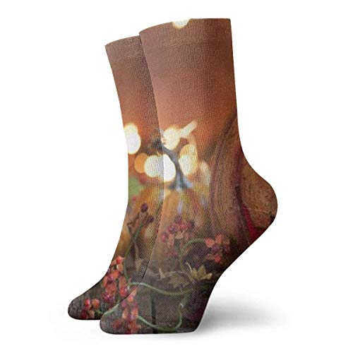 huatongxin Halloween Pumpkin Light Adult Calcetines Cotton Gym Short Calcetines For Yoga Hiking Cycling Running Soccer Sports