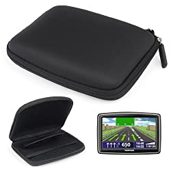"""Protective case for car sat nav. Suitable for sat navs upto 5"""" such as TomTom, Garmin, Medion. Built in compartments for memory cards and other items. Soft inner lining to ensure sat nav stays protected when in case. Internal Dimensions 140(w)x100(h)..."""