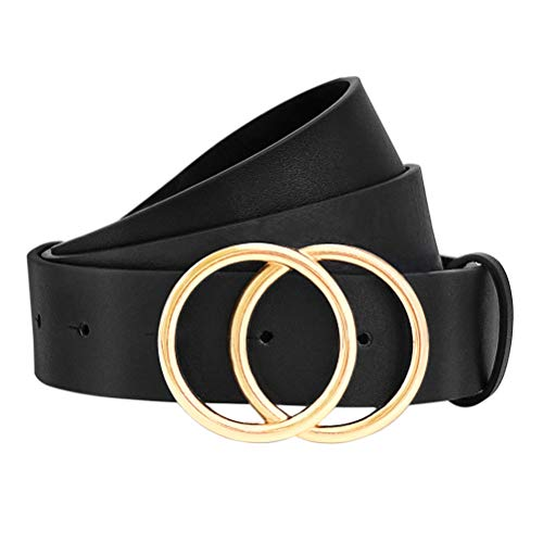 WONDAY Women Leather Belt, Geniue Leather Cute Ladies Belt for Jeans Dress Pants with Fashion O-Ring Buckle