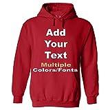 Unisex Hoodie Create You own Custom Front & Back (Optional) Personalized Clothing Unisex Sweatshirt Red